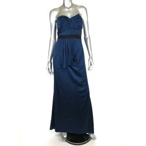 BCBG Max Azria Womens Strapless Dress Formal Gown